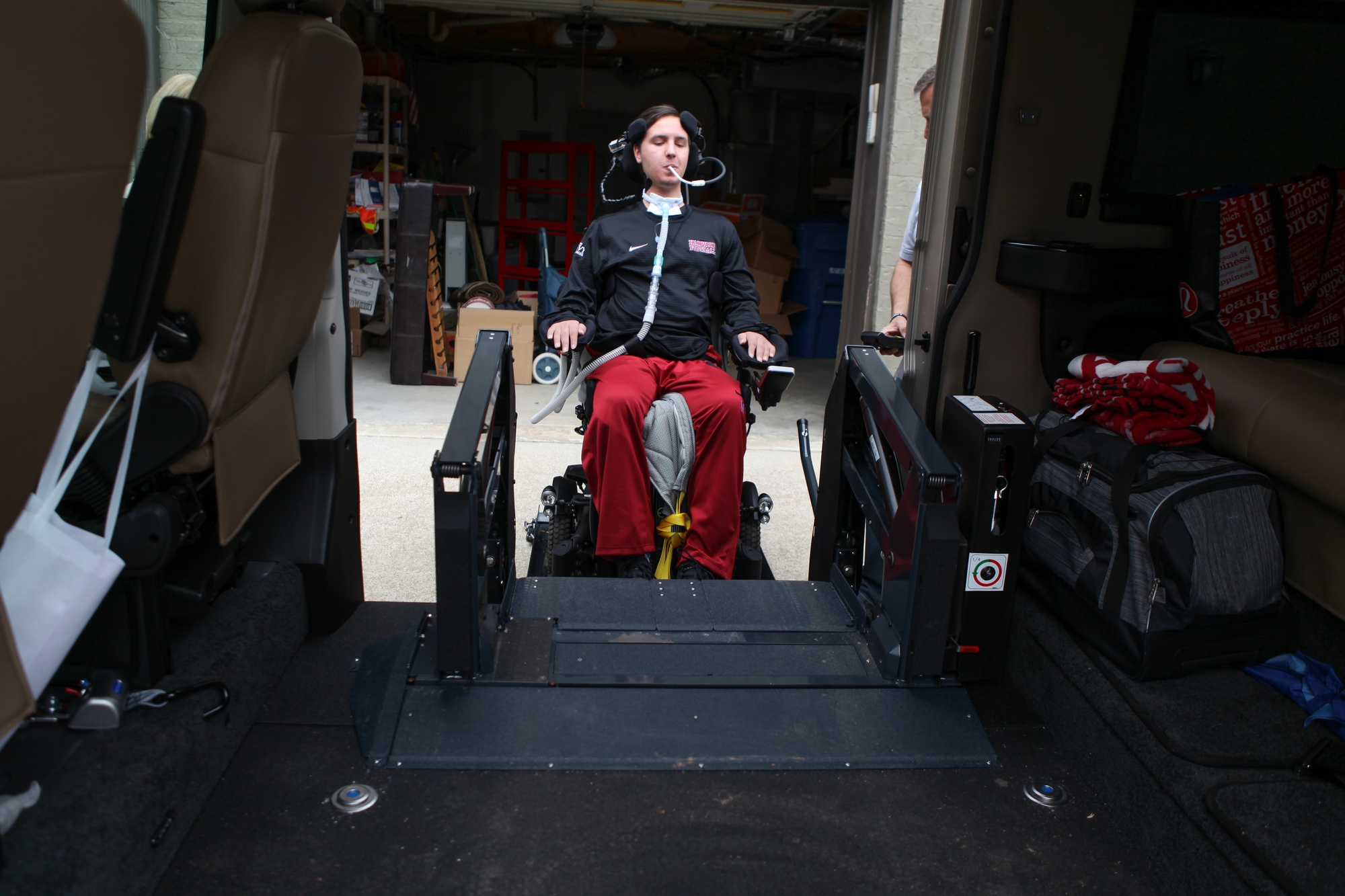 Six months after a freak accident in his first football game as a college athlete, Ben M. Abercrombie '21 remains paralyzed from the neck down.