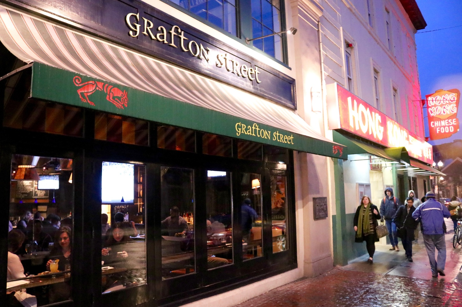 """Grafton Street is a popular destination for student-professor meals funded through Harvard's """"Classroom to Table""""  program."""