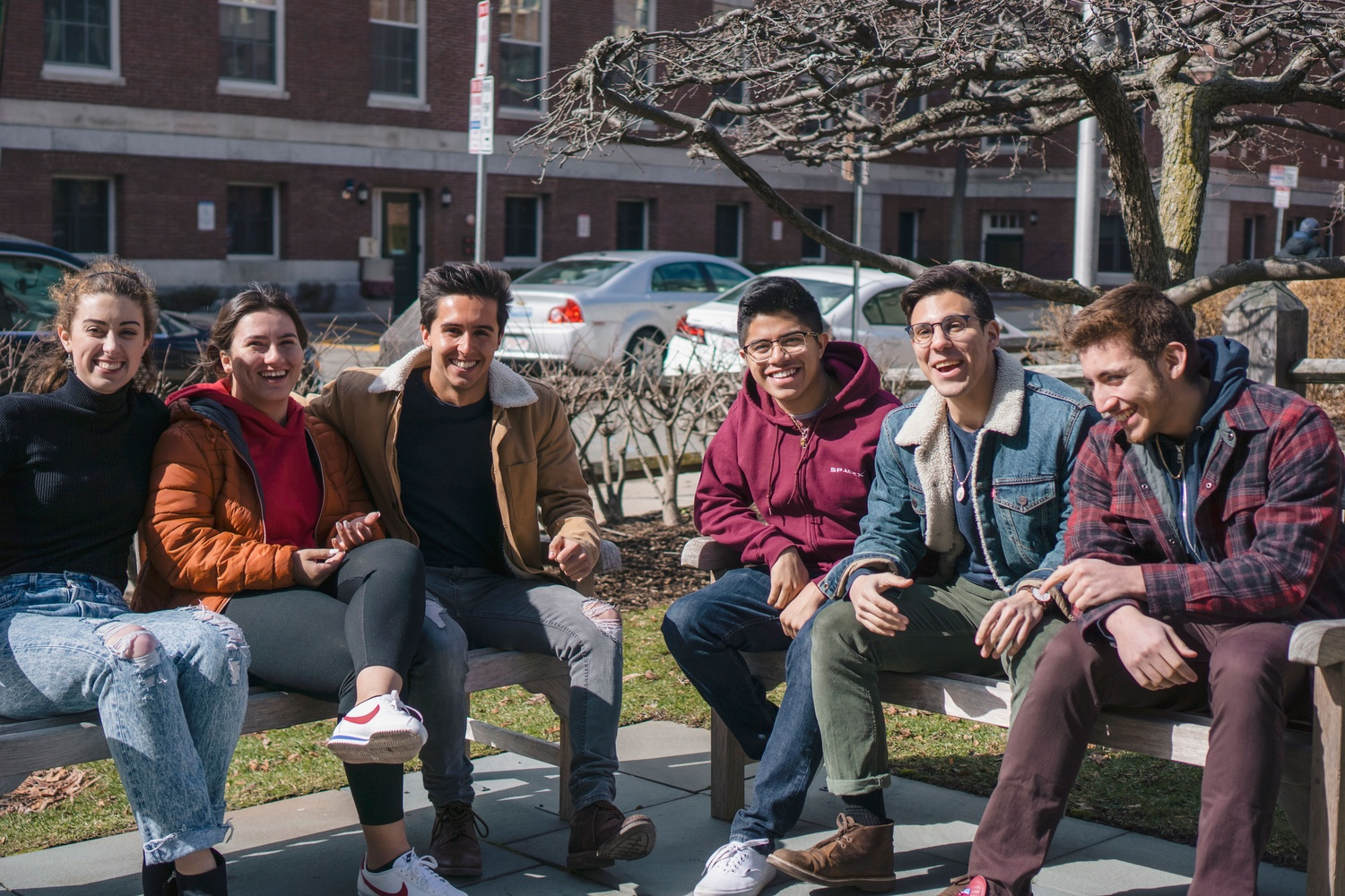 First-Year Retreat and Experience (FRYE), Harvard's new flagship pre-orientation program, will run from August 23rd to August 26th. Pictured here are six students involved in leading the program.