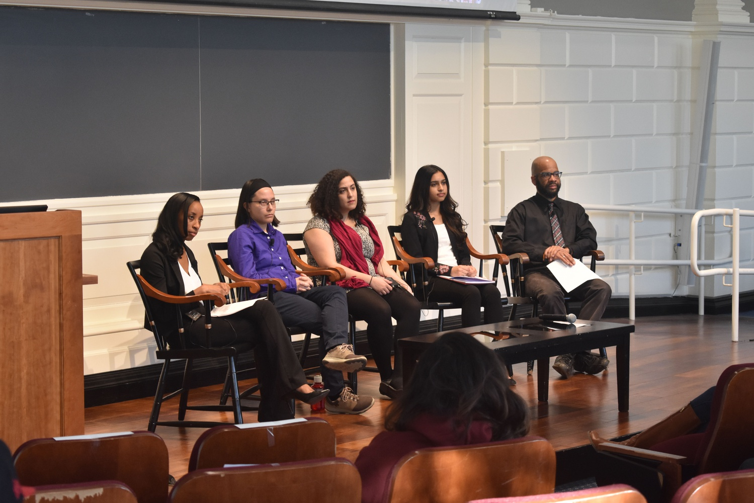 Scholars and activists discuss surveillance of Muslim and minority youth at a Harvard Graduate School of Education panel.