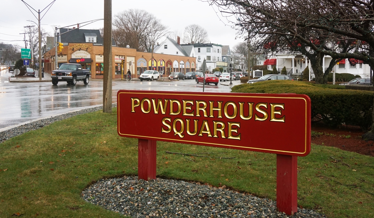 Powderhouse Square is located in Somerville, near Tufts University.