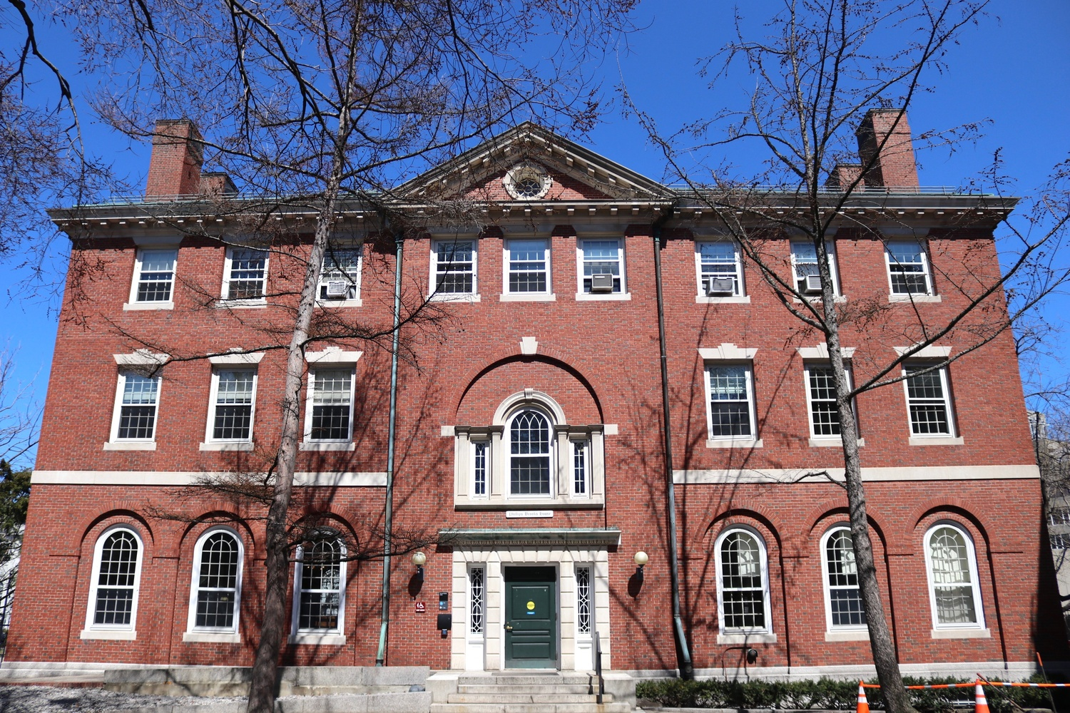 Phillips Brooks House stands in the northwest corner of Harvard Yard and houses several College public service programs.