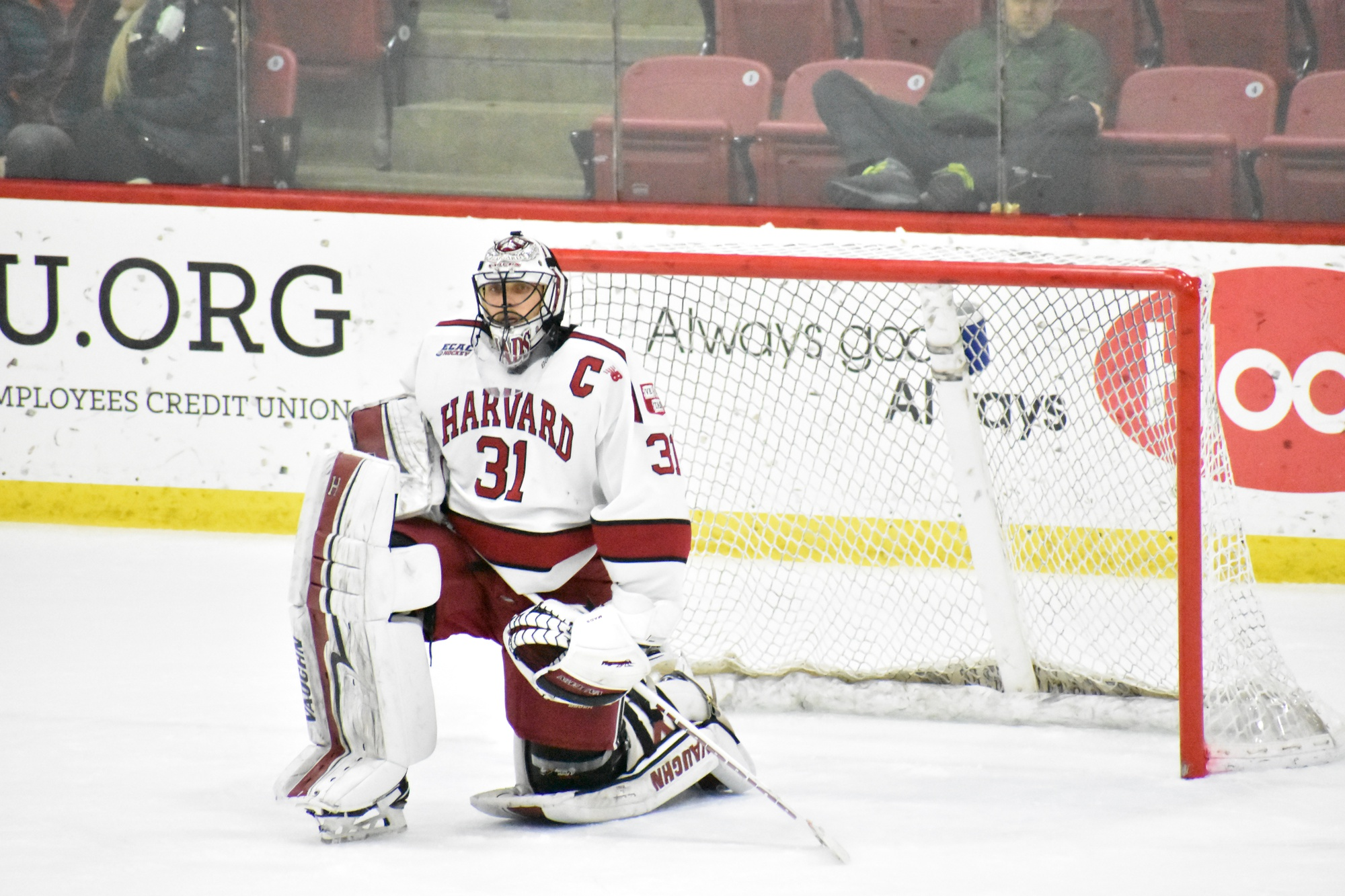 Madsen's shutout versus RPI didn't come easy—the senior net-minder saw 32 shots come his way, but shut the door on all of them.