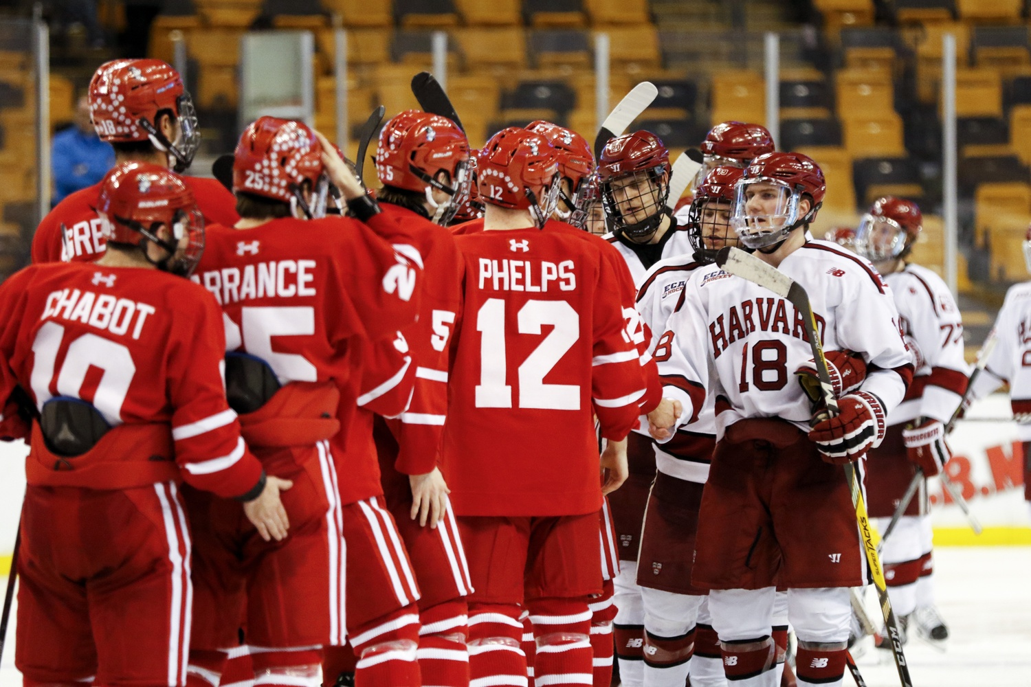 In a battle that lasted nearly 82 minutes, the Crimson eventually were knocked out of the running for a Beanpot title by a young Terriers squad.