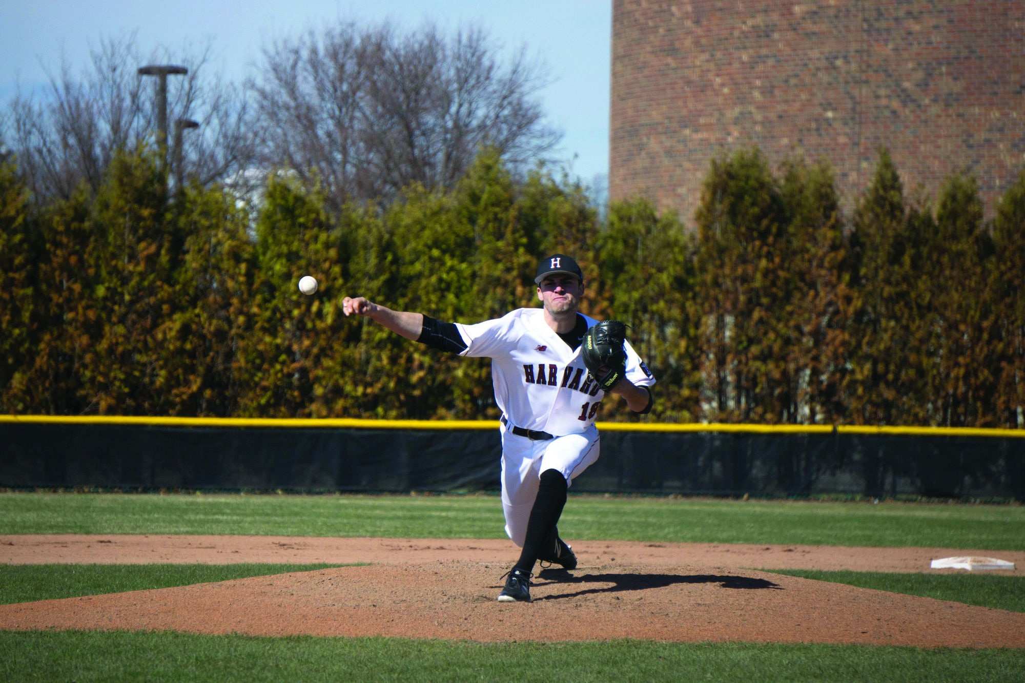 Junior righty Simon Rosenblum-Larson started the final game of the Yale series, giving up two earned runs in five innings of work.