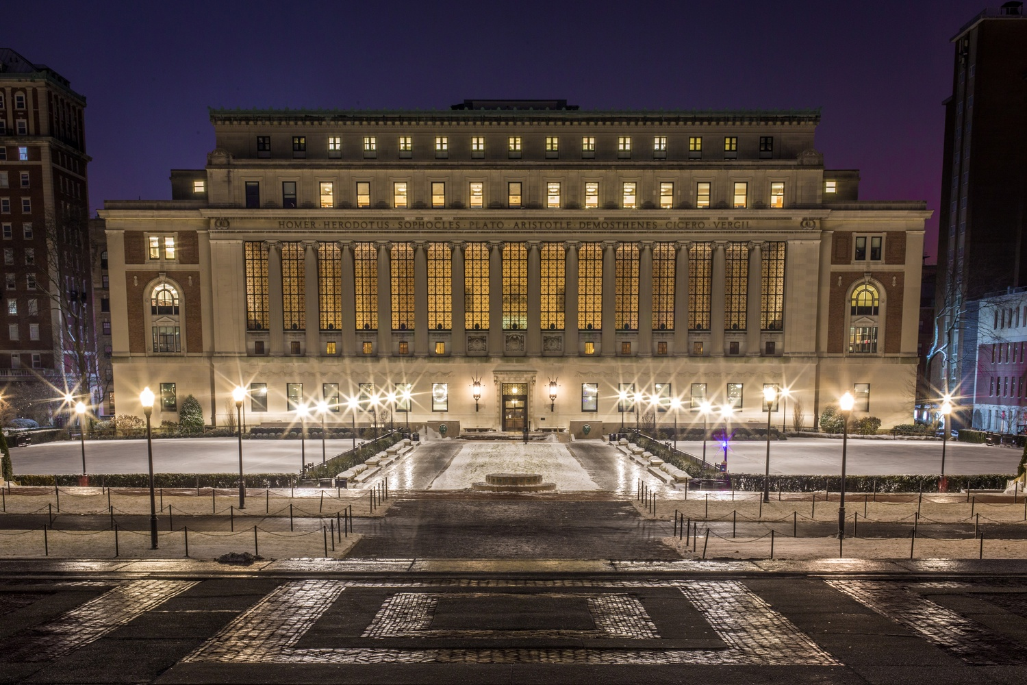 Columbia University, where unionized graduate students voted to authorize a strike Saturday.