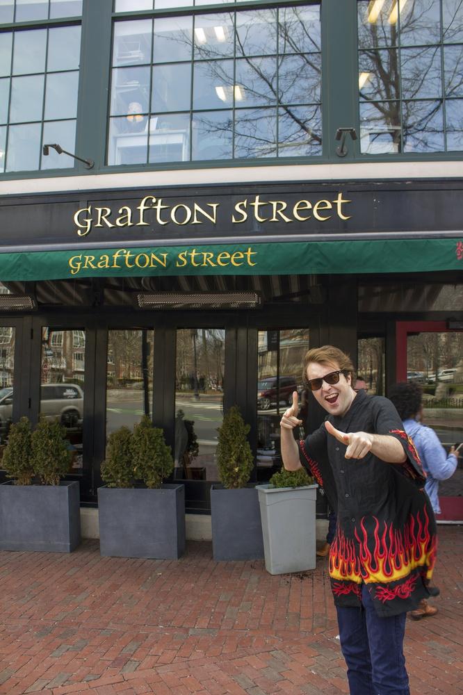 """""""Guy Fieri"""" checks out Grafton Street Pub."""