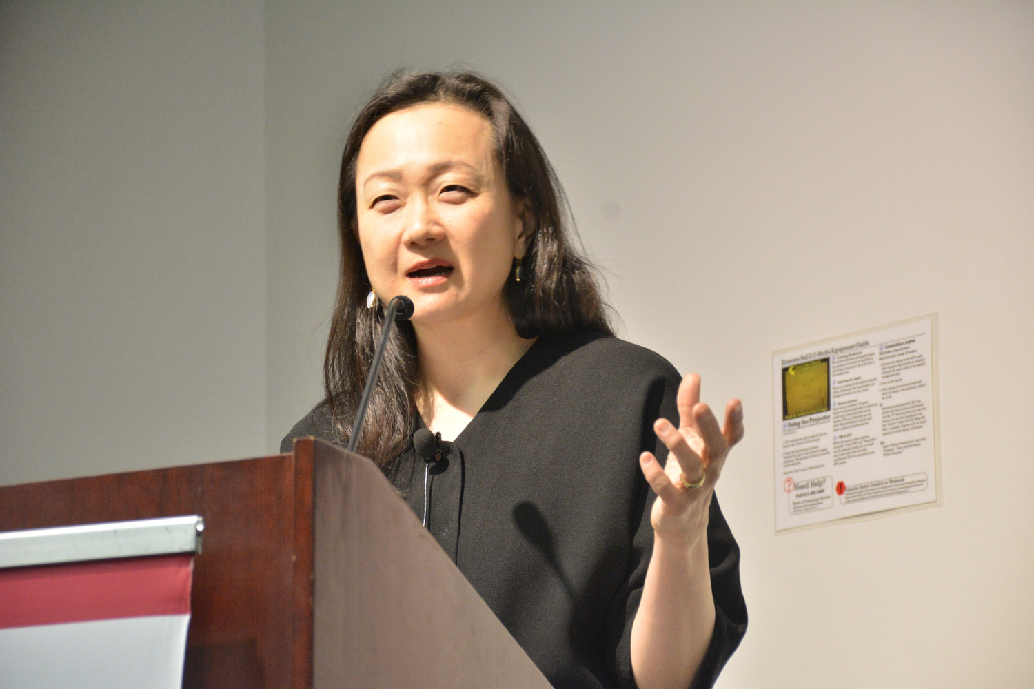 Min Jin Lee, who is the author of Free Food for Millionaires (2007) and Pachinko (2017), spoke about her publications and work at Emerson Hall.