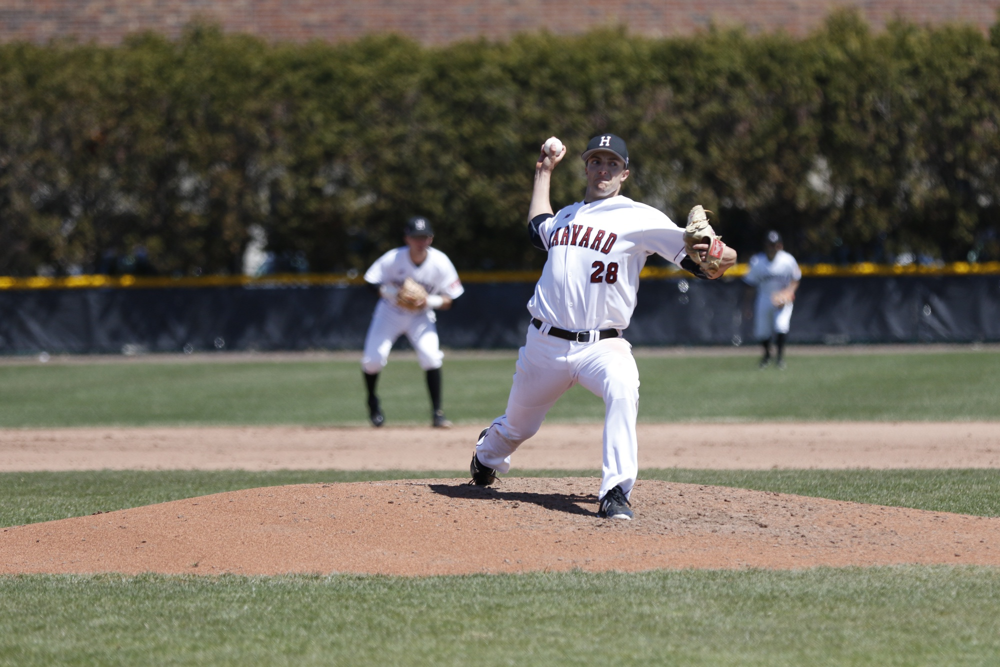 Senior righty Noah Zavolas pitched in all three series of Harvard's recent nine-game stretch.
