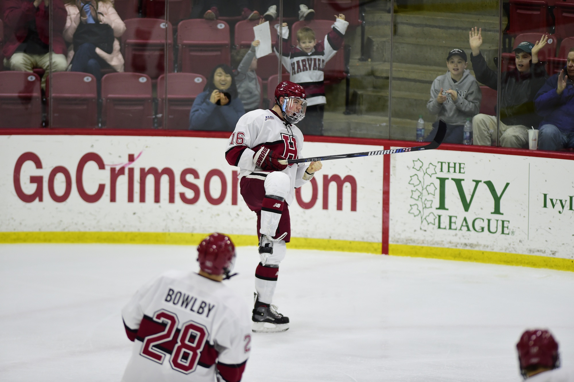 Donato, pictured here after completing his game-three hat trick against Dartmouth in the ECAC quarterfinals, potted a trio of pucks three times this season.