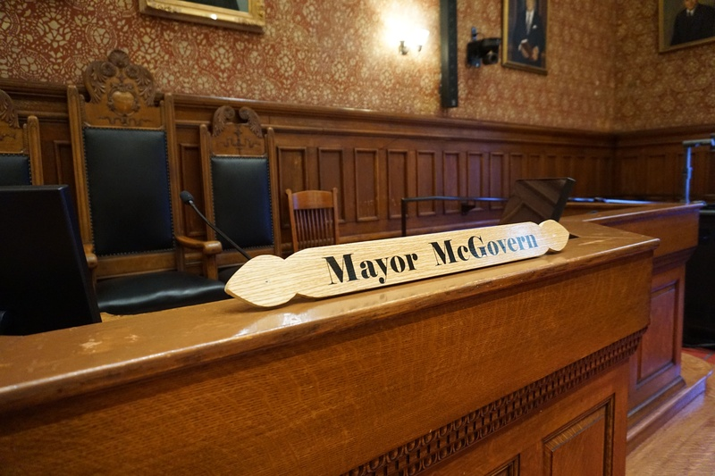 Mayor McGovern Name Plate