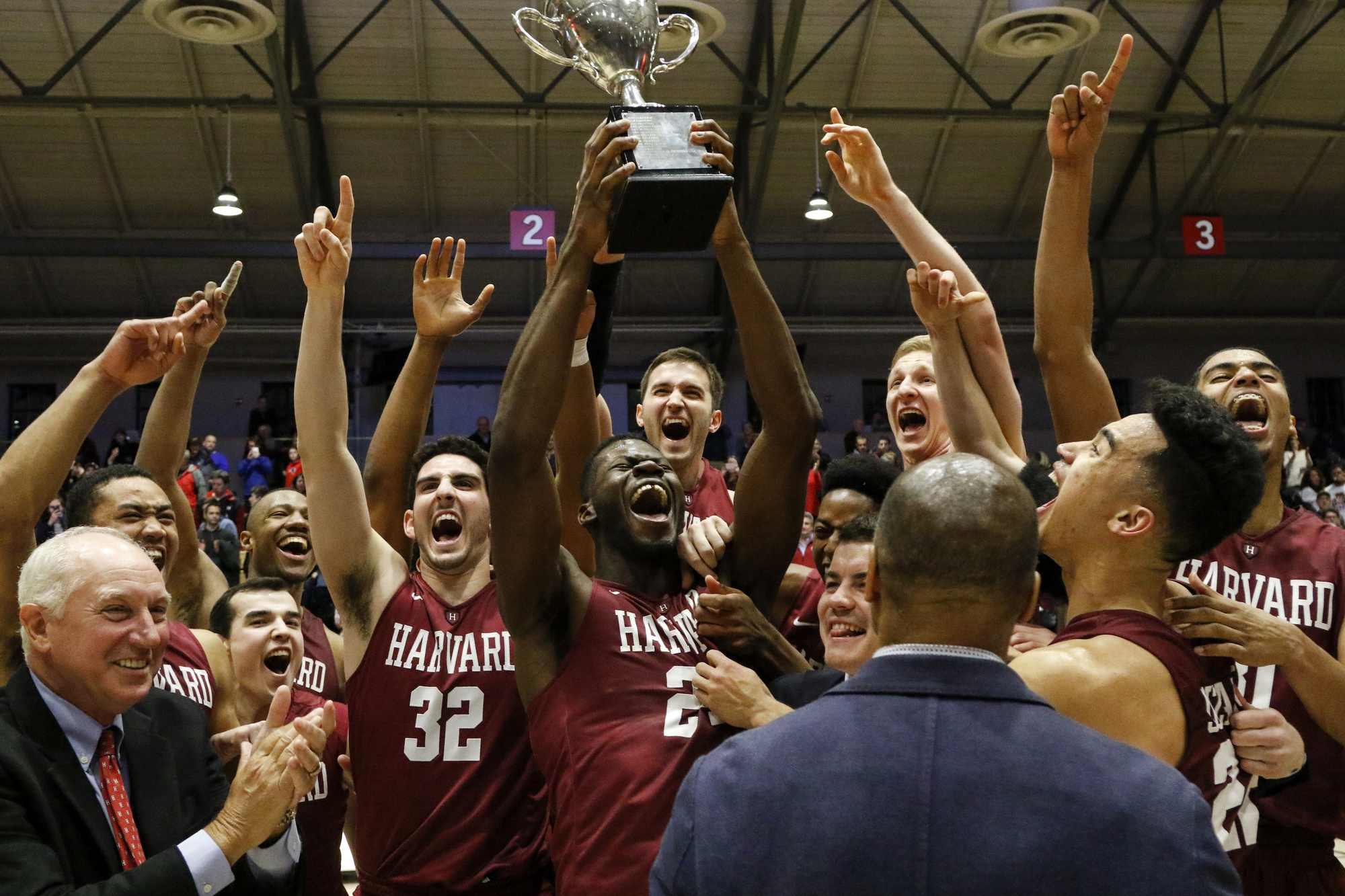 Coach Amaker looks ahead at his team after clinching a share of the Ivy League title this March. Lead by a sophomore class ranked 10th best in the nation at the time, the Crimson finished the conference season with just two losses.