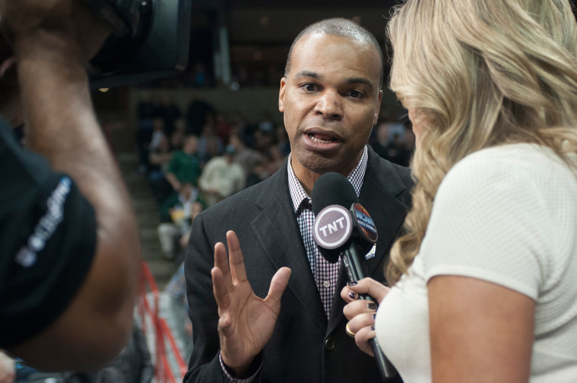 Coach Amaker speaks with TNT following Harvard's loss to Michigan State in the 2014 NCAA tournament.