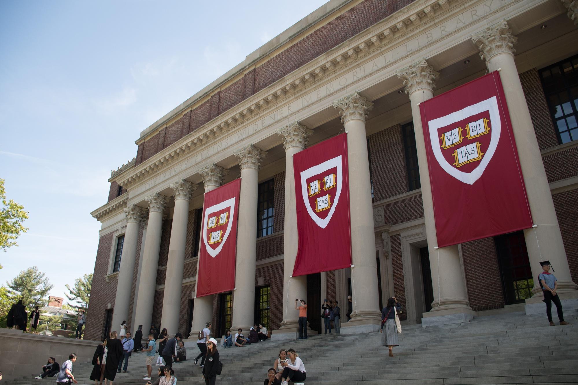 Harvard University's Widener Library.
