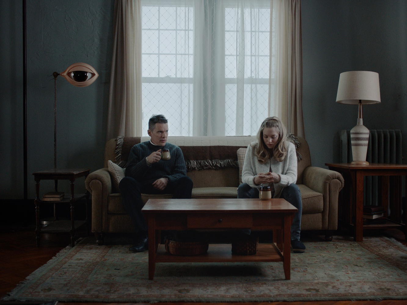 "Ethan Hawke and Amanda Seyfried star in ""First Reformed,"" directed by Paul Schrader."