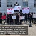 Protesters Denounce Black Undergraduate's Arrest