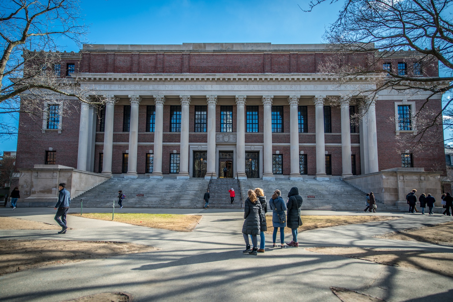Widener Library is located in Harvard Yard.
