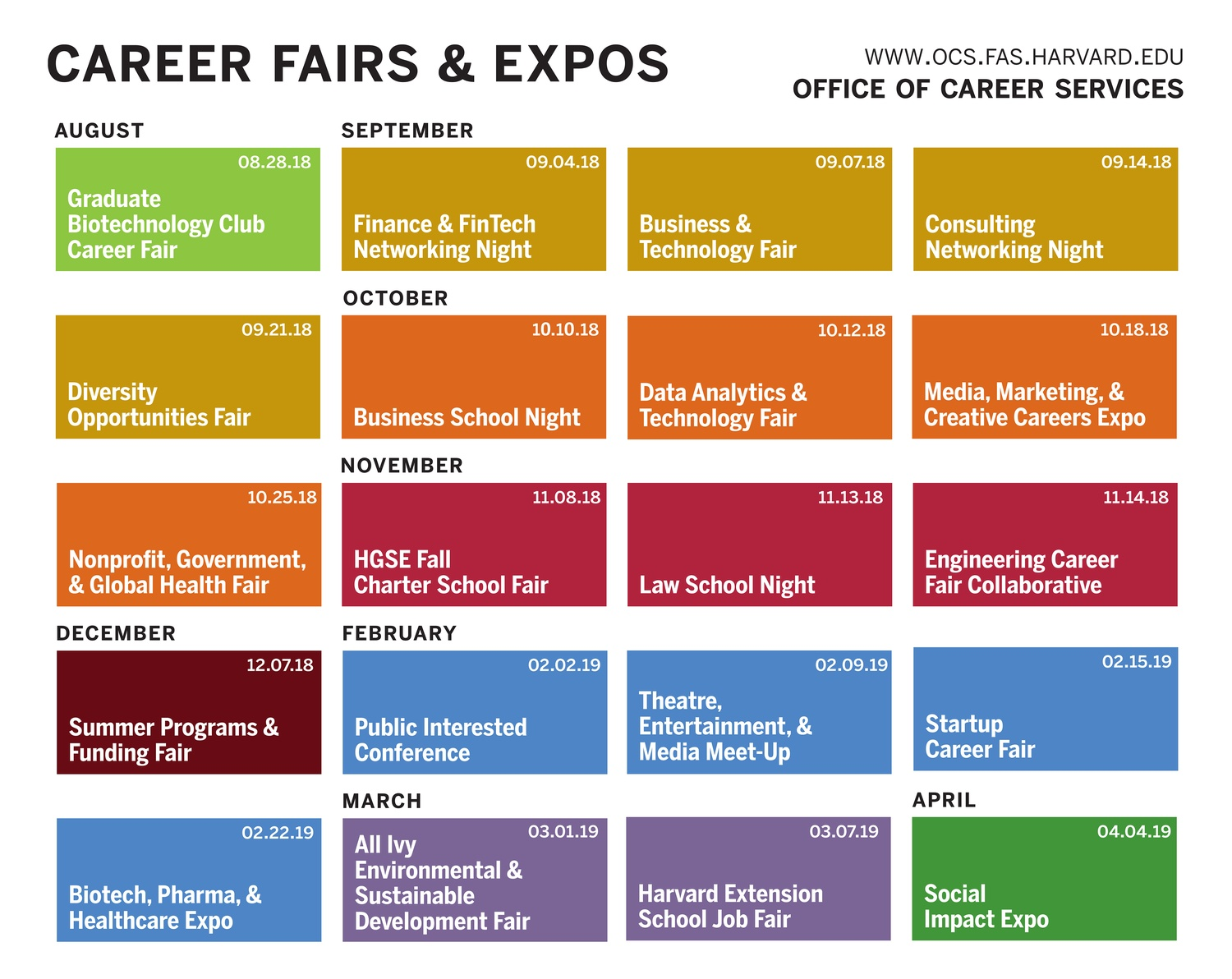 OCS Career Fair Poster 2018