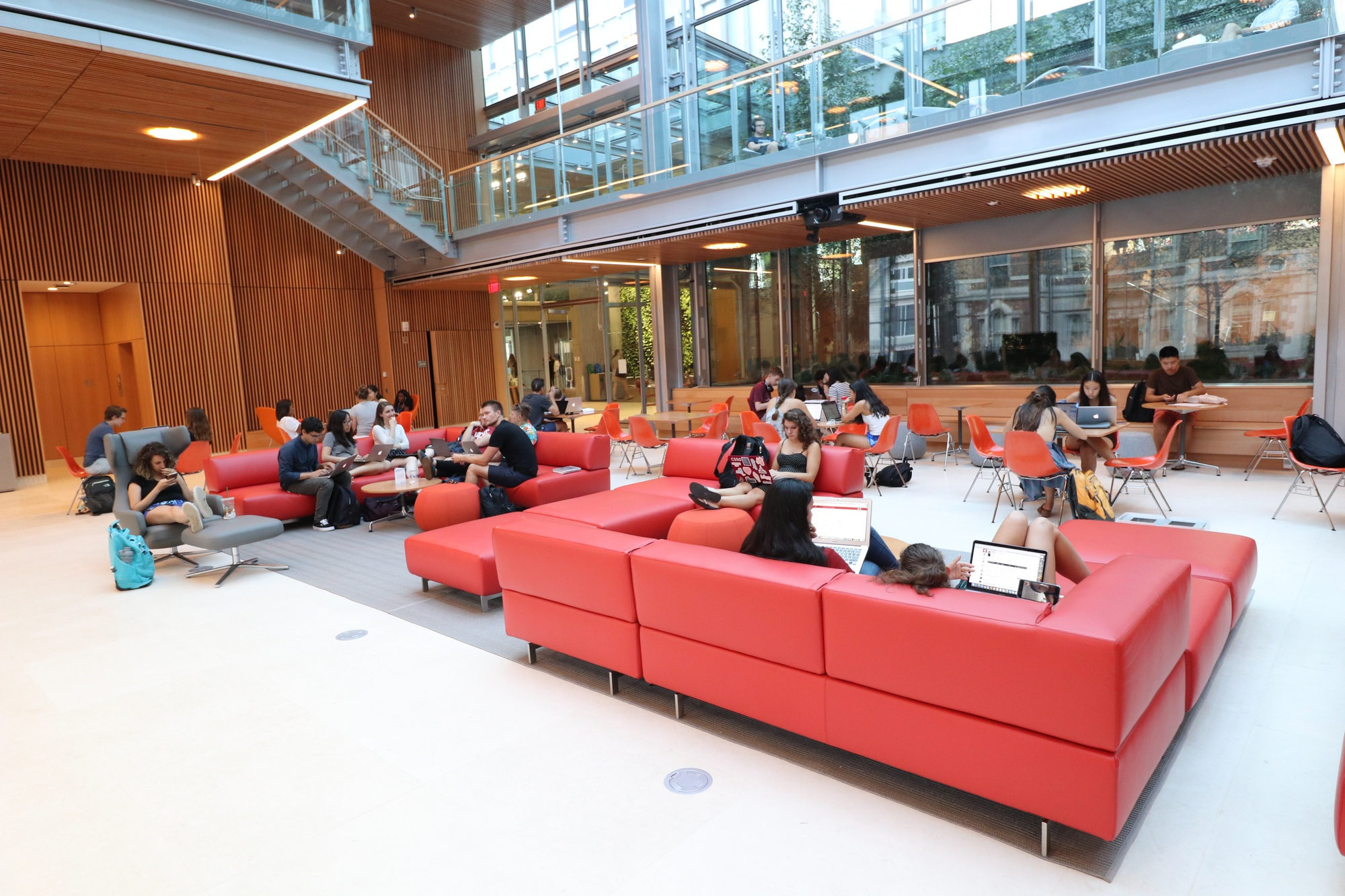 Students study in the brand-new Smith Campus Center.