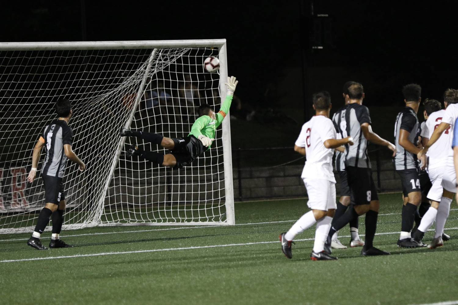 Harvard senior Jack Miler eked a header past Providence keeper Colin Miller, which proved to be the deciding goal in Monday's victory.
