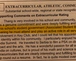 Extracurricular Ranking