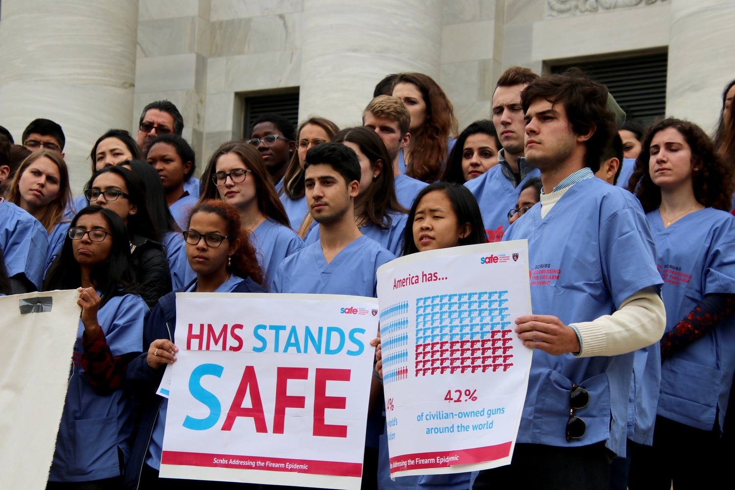 Harvard Medical School students take part in a nationwide movement in the medical community to address gun violence.