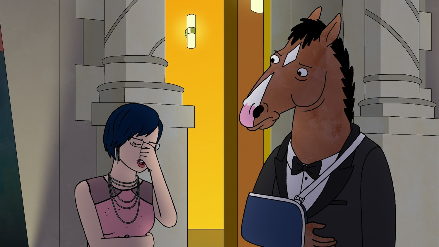 """BoJack (Will Arnett) and Diane (Alison Brie) attempt to clear the air on Netflix's """"BoJack Horseman."""""""