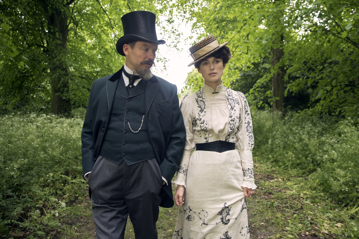 """Dominic West stars as Willy and Keira Knightley as Colette in """"Colette"""" (2018), directed by Wash Westmoreland."""