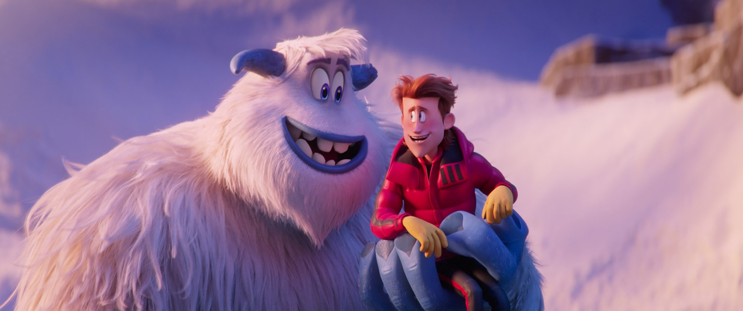 """Migo voiced by CHANNING TATUM and Percy voiced by JAMES CORDEN in the new animated adventure """"Smallfoot"""" (2018)."""