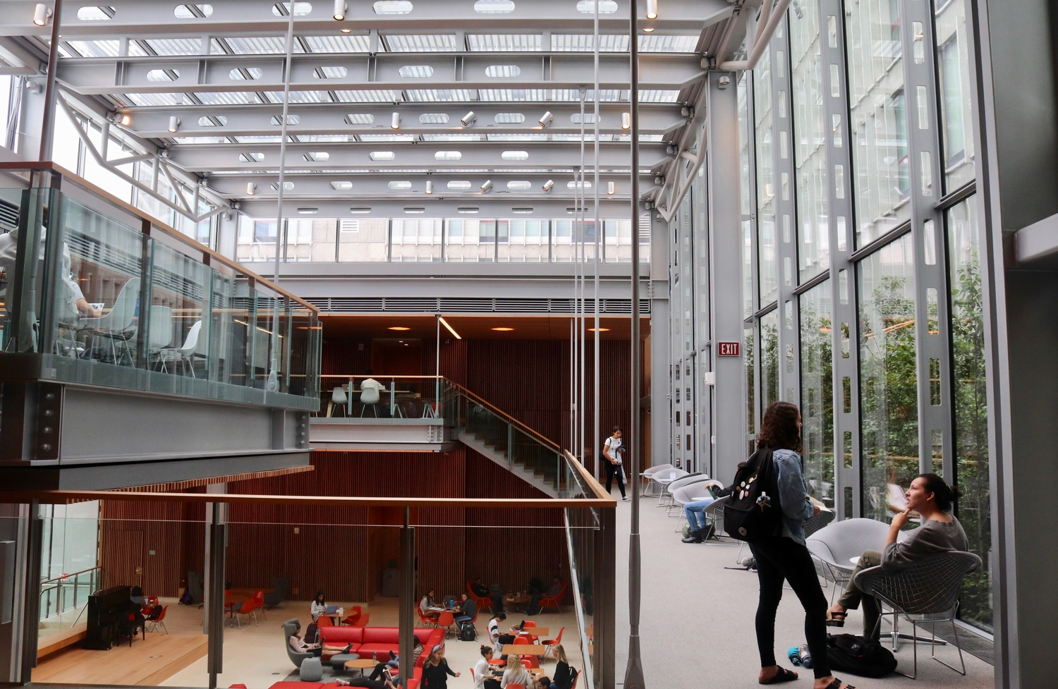The common area of Smith Campus Center where the students of Harvard College gather.