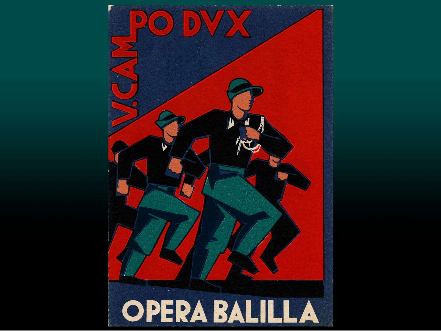 5th Camp Dux, Opera Balilla, 1935. Lithograph (divided back). Leonard A. Lauder Postcard Archive—Promised gift of Leonard A. Lauder.