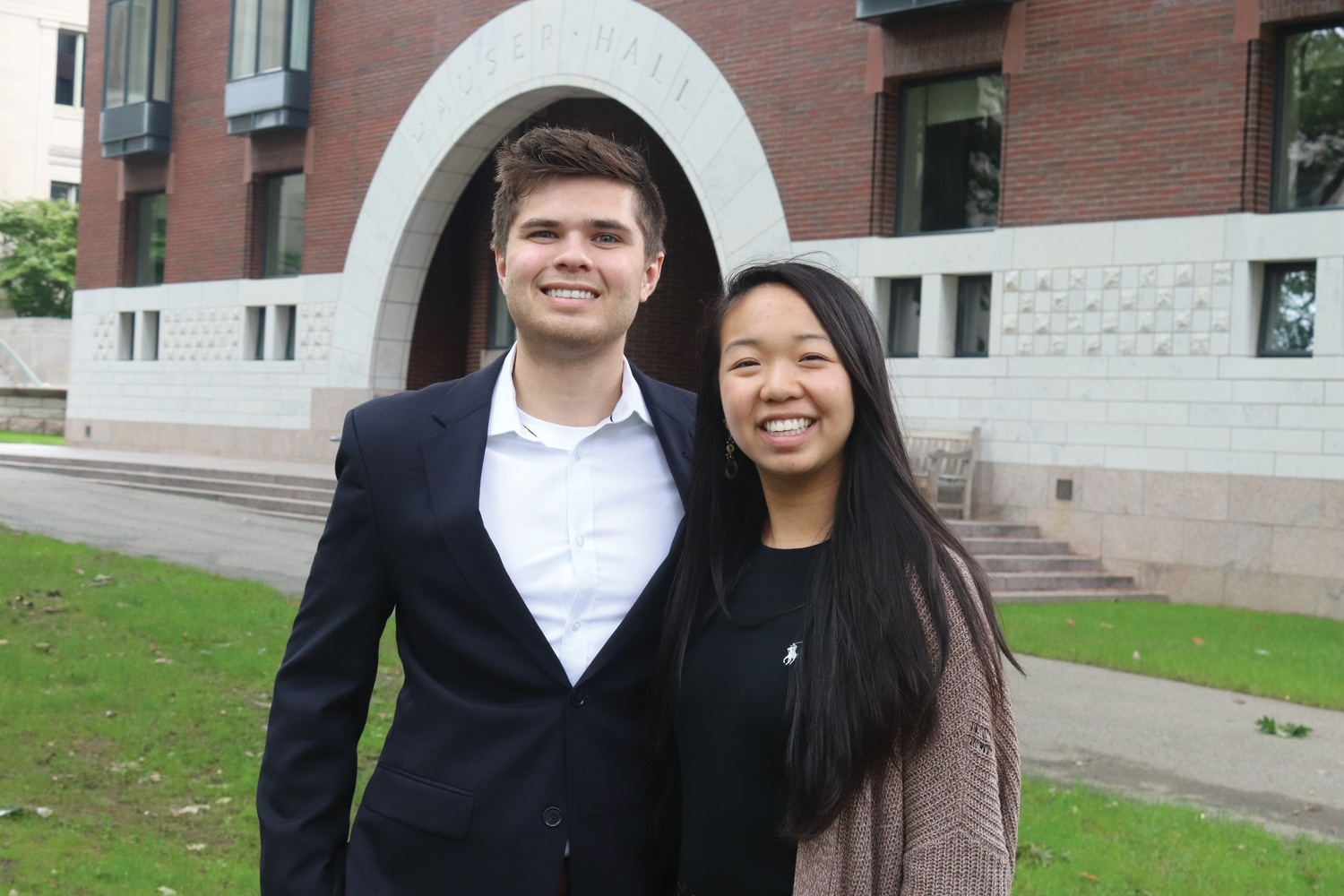 Catherine L. Zhang '19 and Nicholas D. Boucher '19, the president and vice-president of the Undergraduate Council.