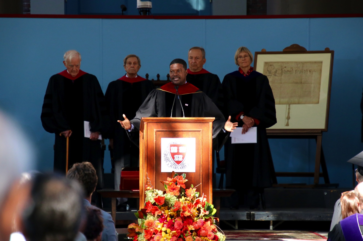 Jonathan Walton speaks at the inauguration of University President Lawrence S. Bacow in October 2018.
