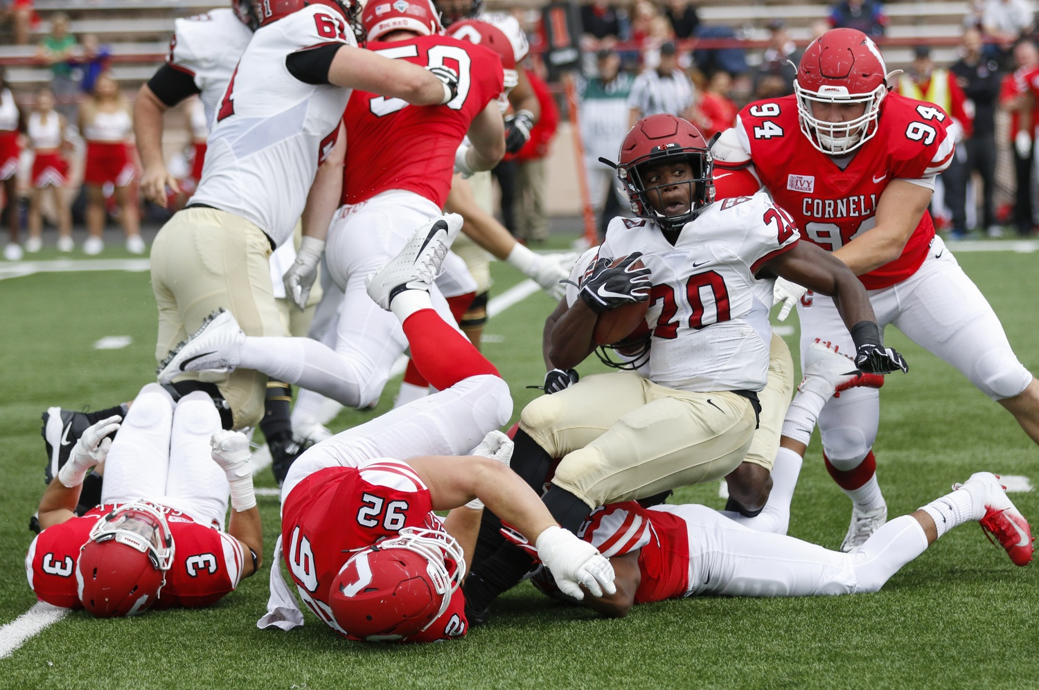Aaron Shampklin paced the Harvard offense with a career-high 191 yards against Cornell.