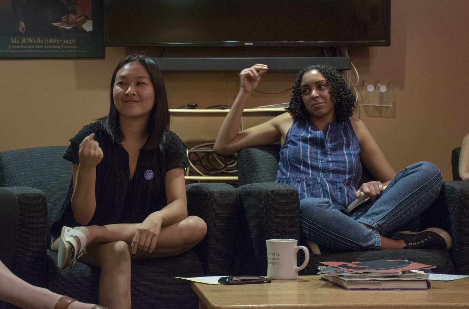 The Harvard College Women's Center hosted a conversation about emotional labor and self-care Wednesday evening in Canaday Hall B.