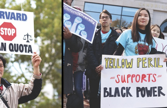 Dueling Rallies Precede Admissions Lawsuit Trial