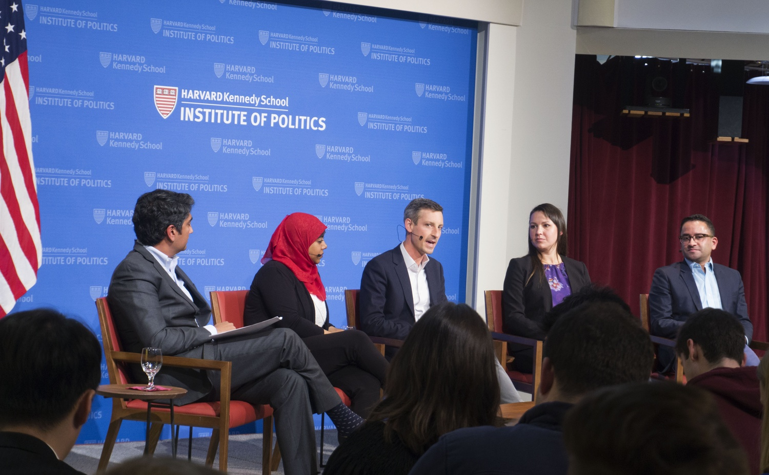Former West Wing staffers talked about their personal experiences serving in the Obama administration at the Institute of Politics on Monday evening.