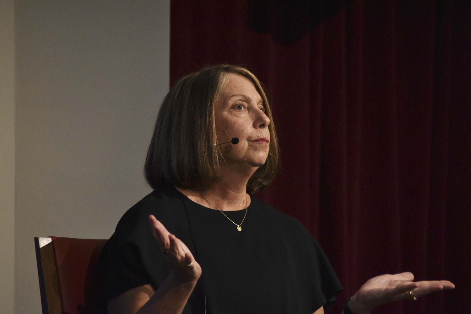 Jill E. Abramson spoke about the impact of the press on the political world at the Institute of Politics in Oct. 2018.