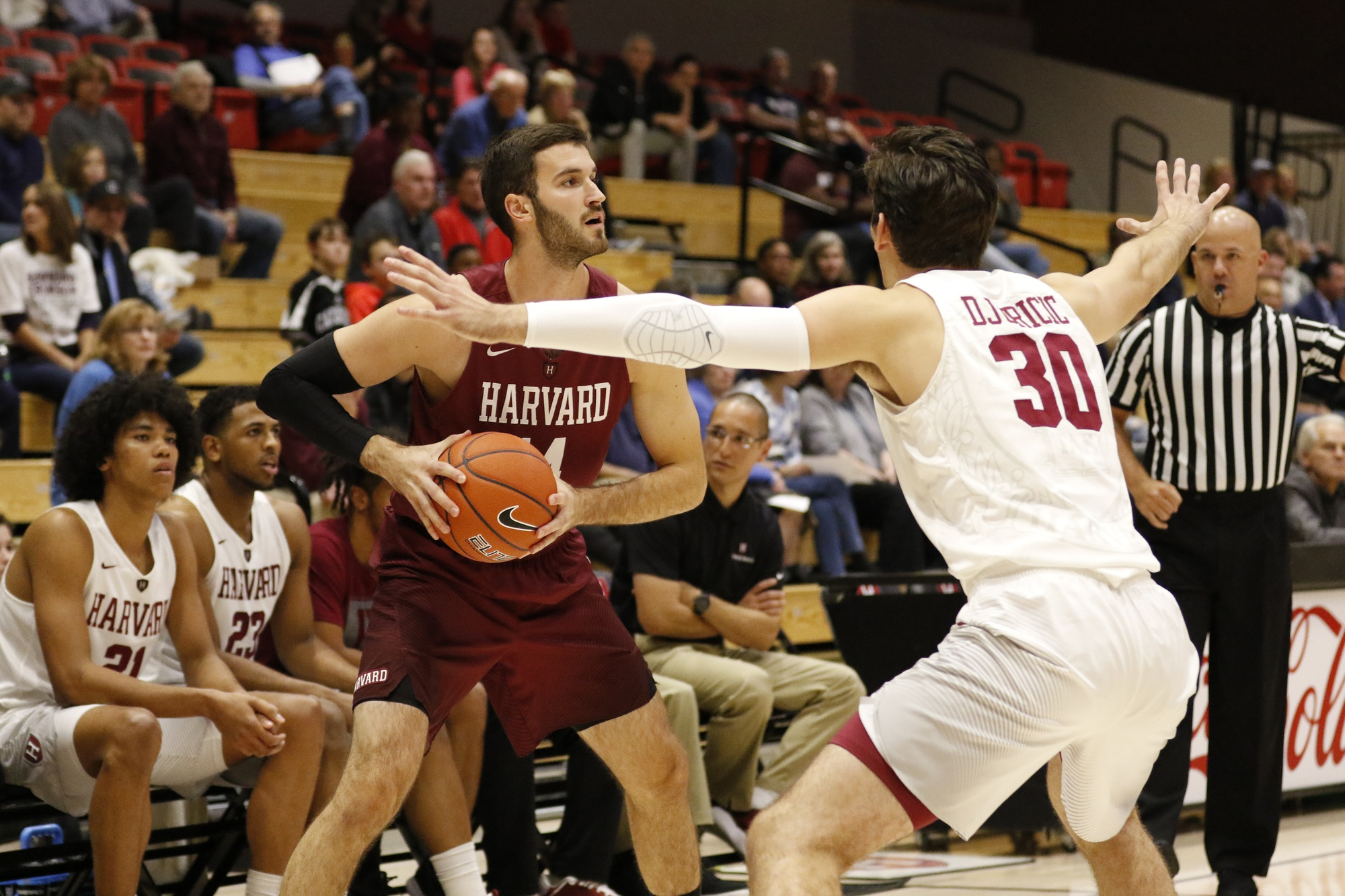 Senior Balsa Dragovic has played sparingly in his time with the Crimson but seeks to make his first NCAA Tournament appearance this season.