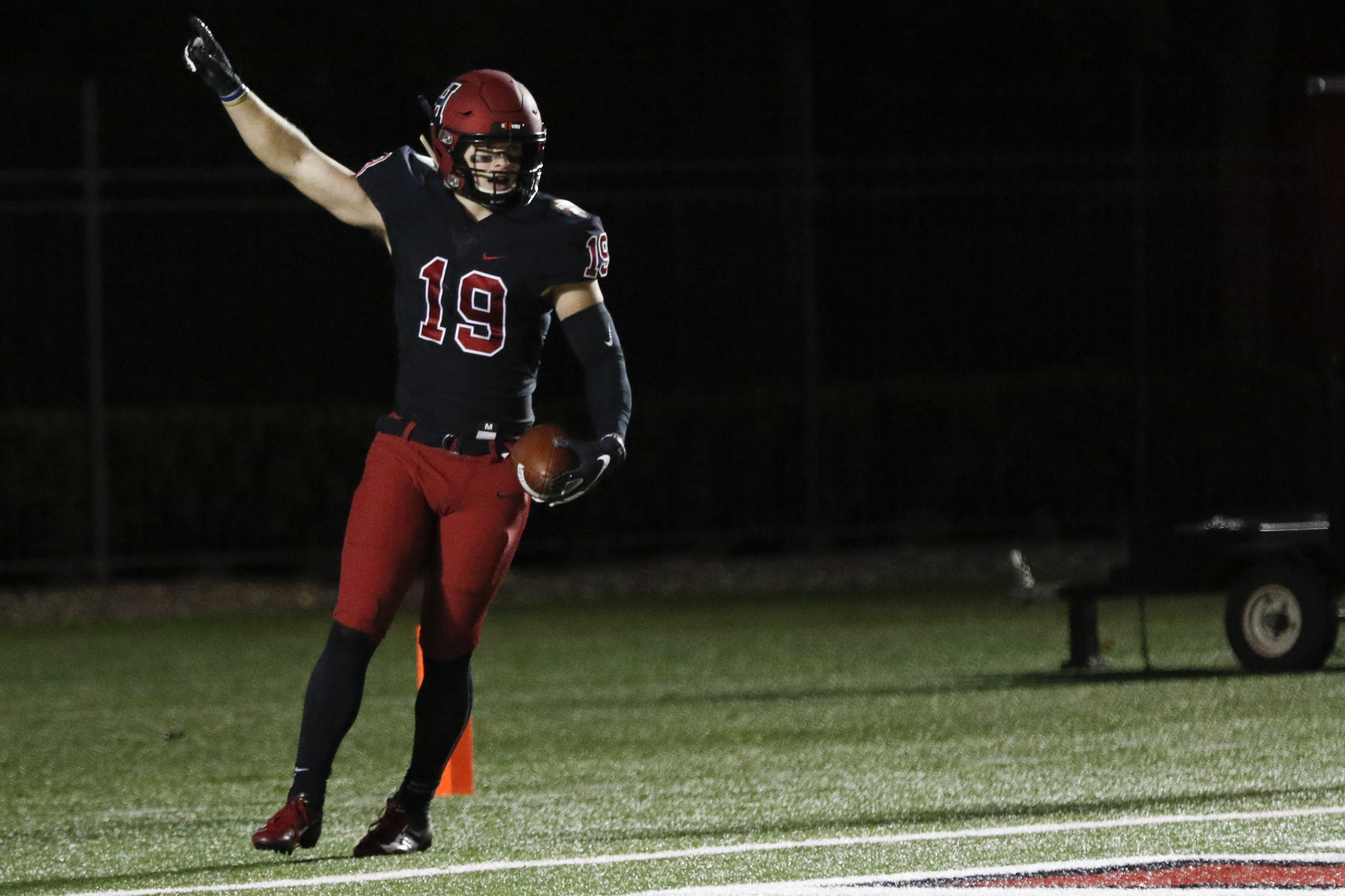 Tyler Adams had just seven career receiving yards prior to last Friday's game against Holy Cross, in which he accumulated 84.