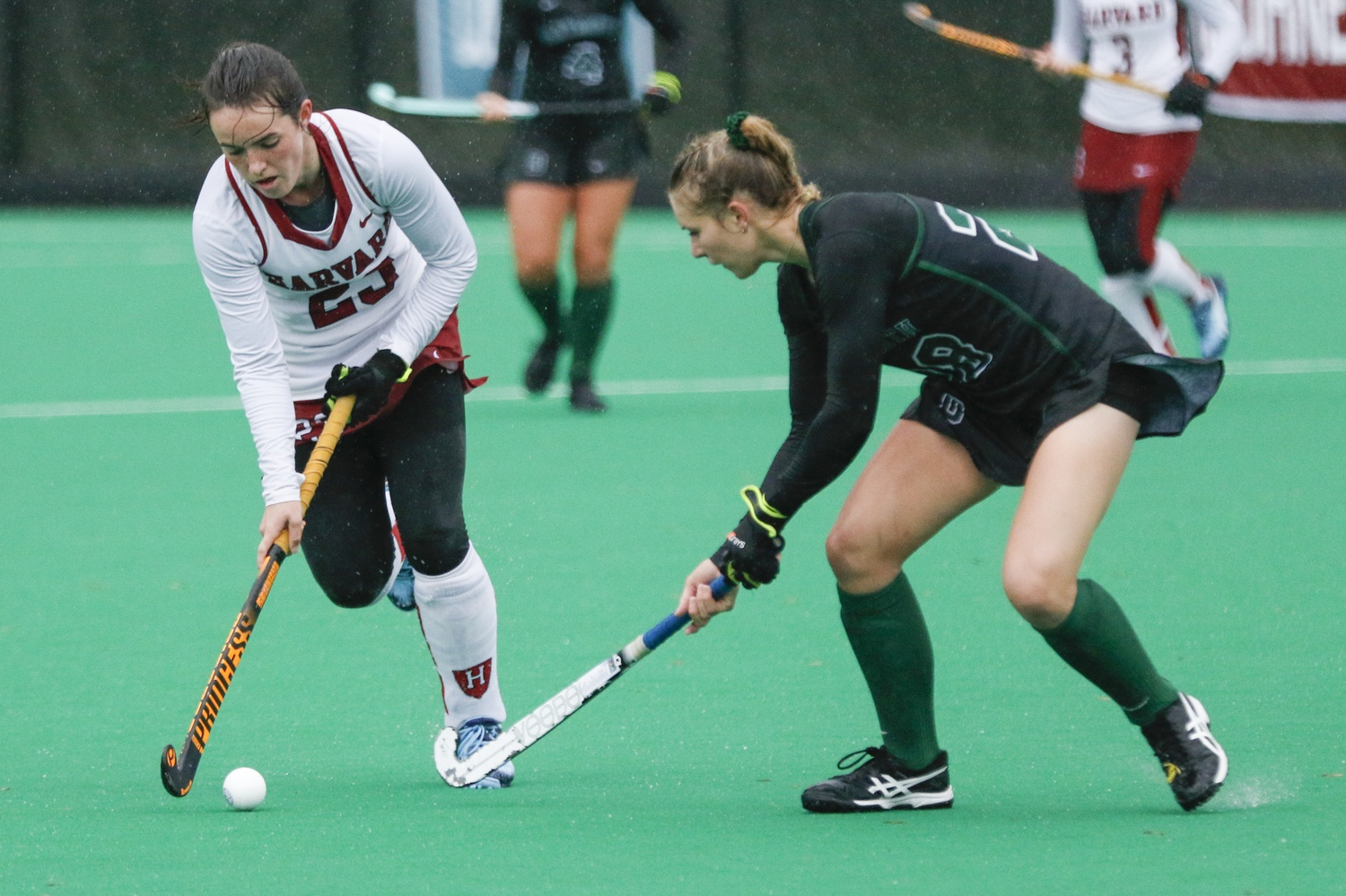 The Crimson's 6-0 shutout win over Dartmouth guarantees itself a share of the title no matter the results of the final weekend of play.