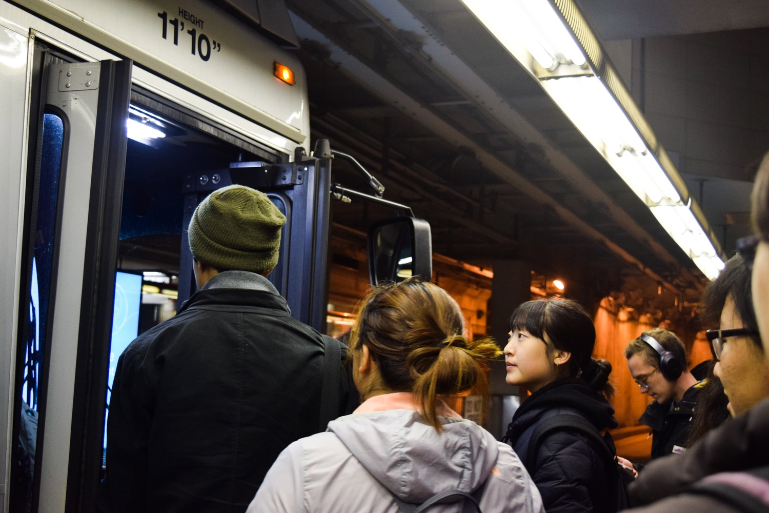 Students Board the T