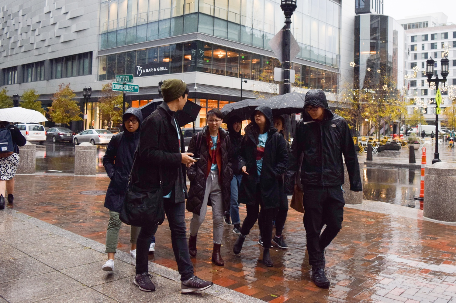 Students braved heavy rains Monday to witness their peers testify on Harvard's behalf in court.