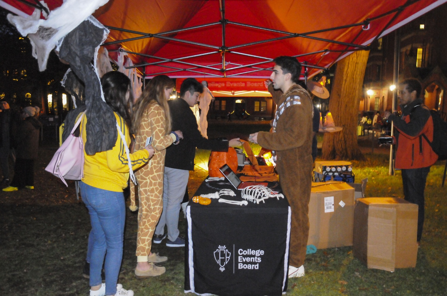 The College Events Board hosted a fun Trick or Treat event in Harvard Yard on Halloween.