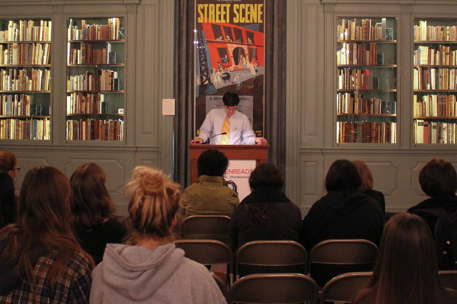 There was a marathon reading of Mary Shelley's Frankenstein in Houghton Library from 9am until 4pm Wednesday.
