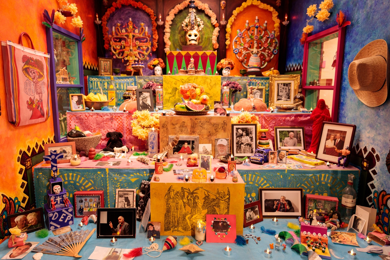 Elaborate altars formed the crown jewel of the Harvard Peabody Museum Day of the Dead party Thursday.