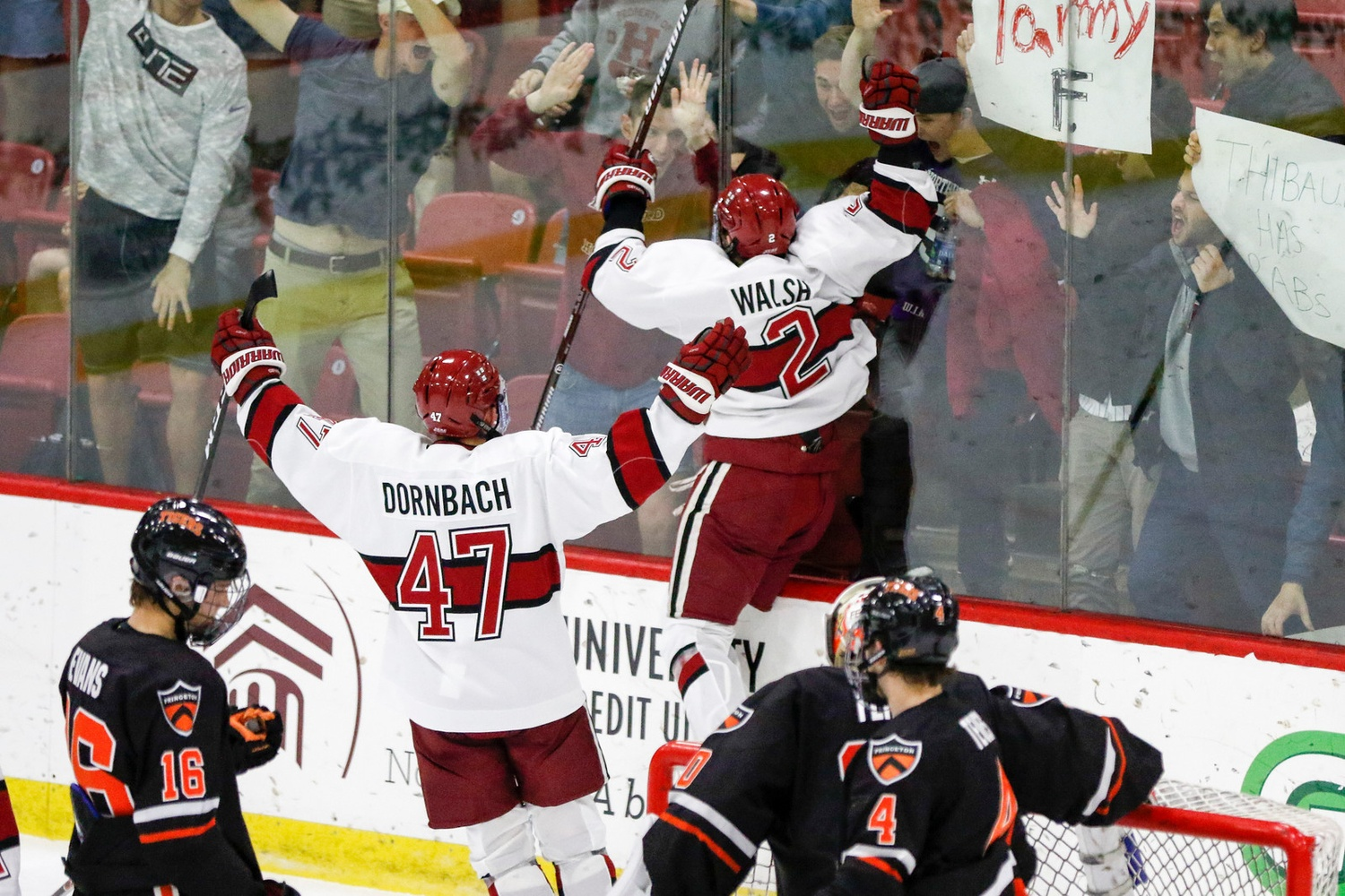 Sophomore defenseman Reilly Walsh's point-shot powerplay goal was ultimately awarded to freshman Jack Drury, whom the puck skimmed on the way into the net.