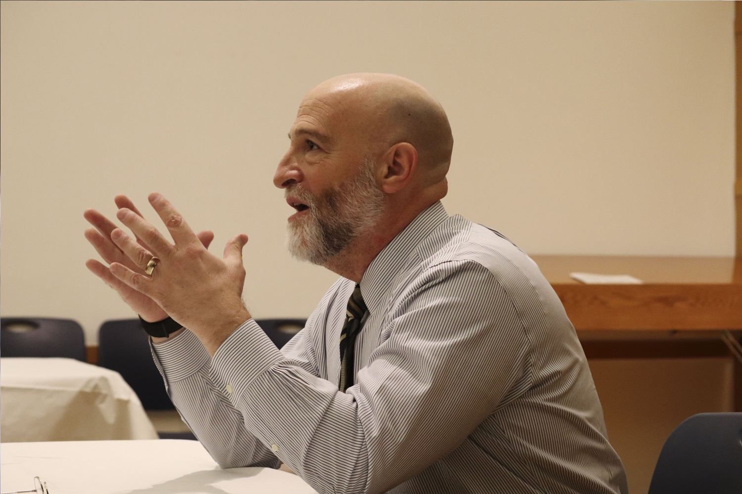Jay M. Harris, professor of Jewish studies, spoke with Harvard affiliates about the history of anti-Semitism and the continued effects of prejudice at Harvard Hillel Tuesday night.