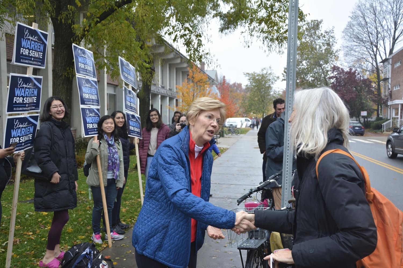 Warren Heads to the Polls