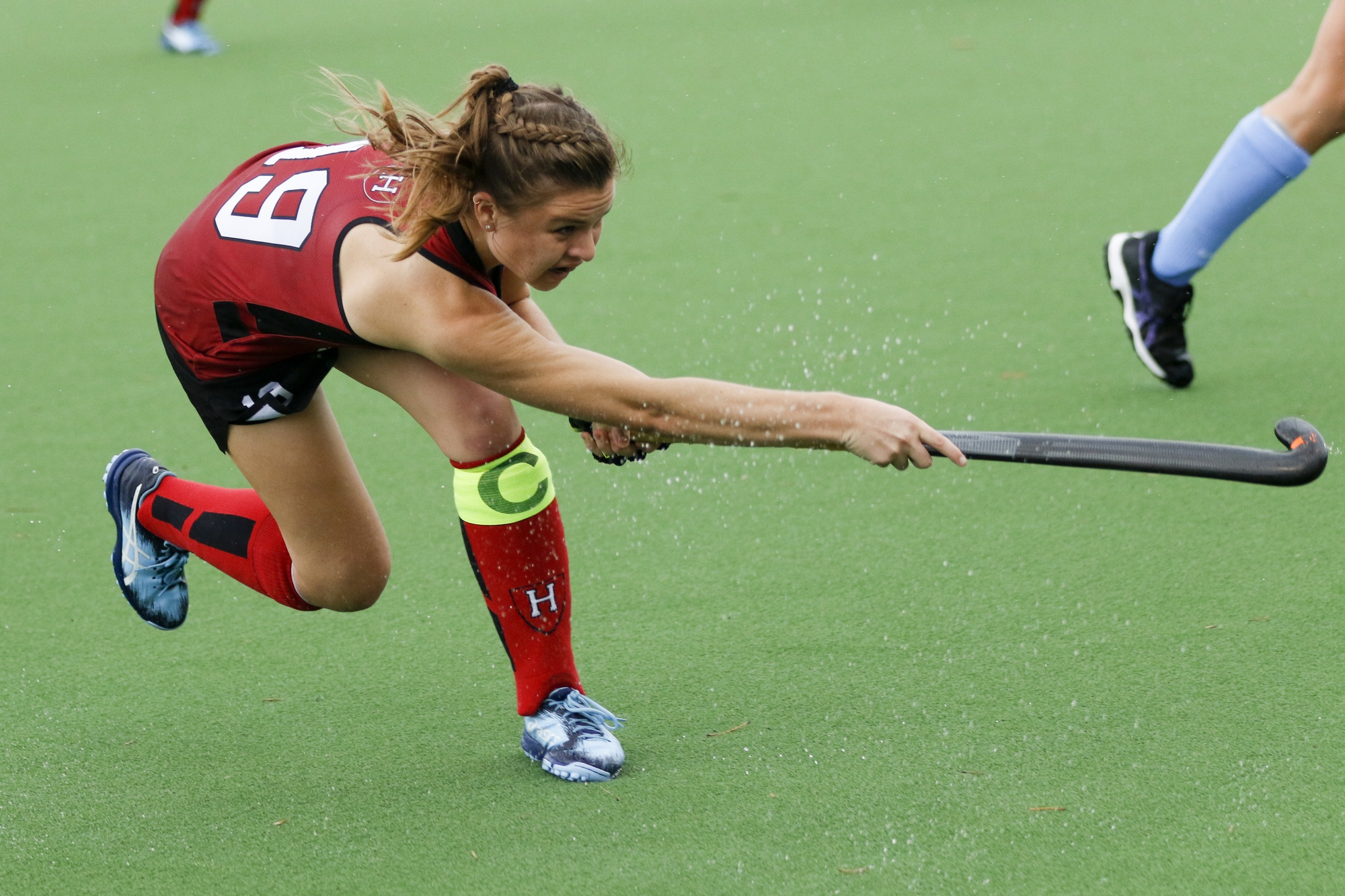 Captain Kathleen Young provided the assist in Harvard's first of six goals Friday afternoon.